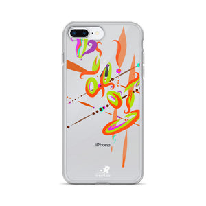 Spark Orange Contemporary Vibrant Design - iPhone Case
