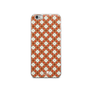 Hawaiian Sunrise Gardenia Floral Pattern iPhone Case