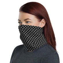 Load image into Gallery viewer, Checkerboard Face Mask / Neck Gaiter (Black/Gray)