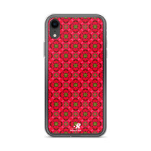 Load image into Gallery viewer, Geometric Floral Rosebud Pattern Design iPhone Case