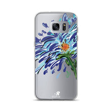 Load image into Gallery viewer, Blue Floral Illustration Samsung Case - Hand Drawn Abstract WaterFlower Design