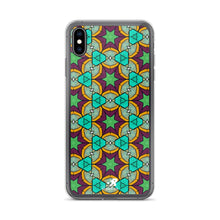 Load image into Gallery viewer, Vibrant Colorful Stained Glass Geometric Pattern iPhone Case