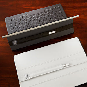 The Stylus Sling works on the Apple Smart Keyboard and also the Smart Cover