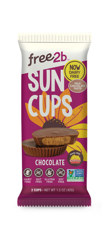 Sun Cups ~ sunflower seed butter, mint and caramel chocolate cups