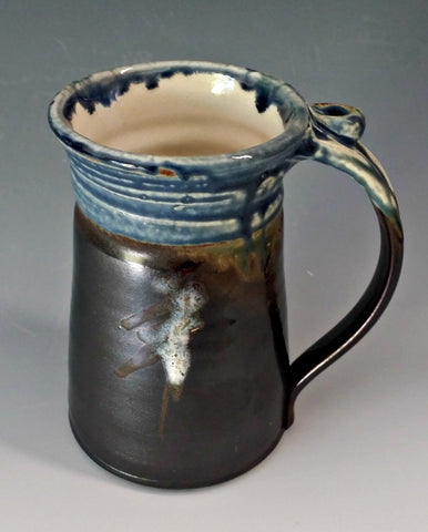 Large Mug- Matte Black w/ Blue