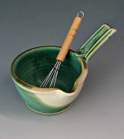 Handled Sauce Bowl with Whisk
