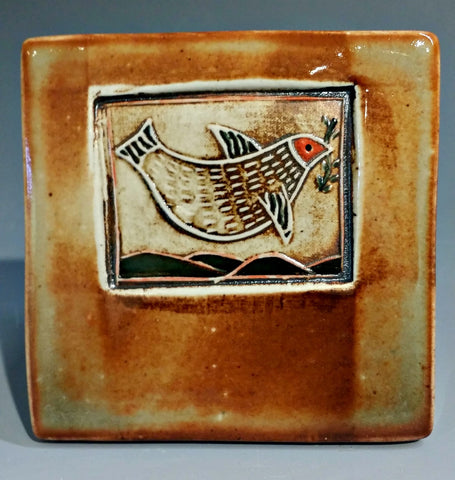 Bird w/ Branch Tile