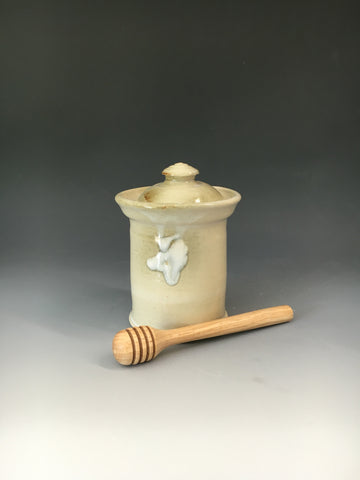 Honey Pot w/ Wooden Honey Stirer