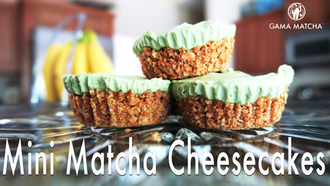 Mini Matcha Cheese Cakes