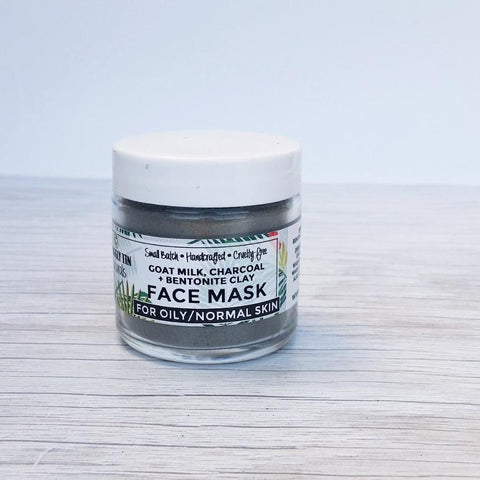 CHARCOAL + BENTONITE CLAY FACE MASK - Oily/Normal Skin