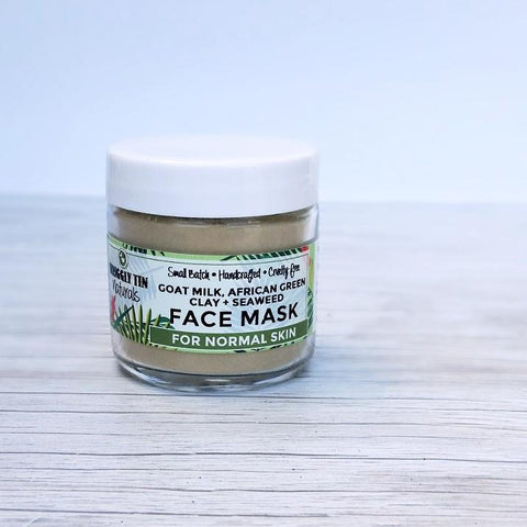 GOAT MILK, AFRICAN GREEN CLAY + SEAWEED FACE MASK - Normal Skin