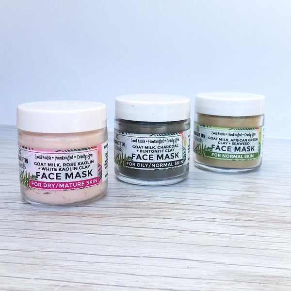 ROSE KAOLIN + WHITE KAOLIN CLAY FACE MASK - Dry/Mature Skin