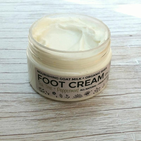 FOOT CREAM - With moisturising Goat Milk + Shea Butter