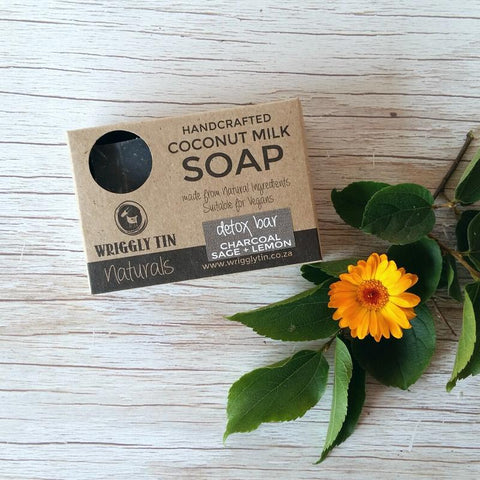 DETOX BAR - Coconut Milk Soap with Charcoal