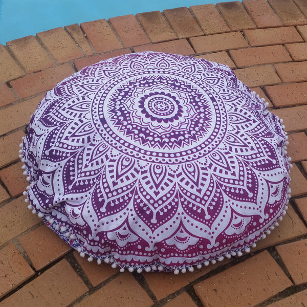 Pink/Purple Ombre Floor Pillow Cover