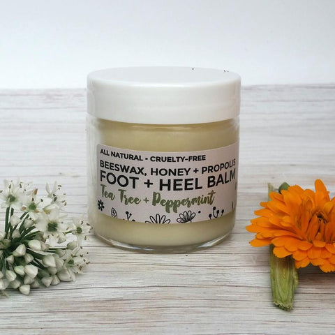 FOOT + HEEL BALM - Made with beeswax + essential oils