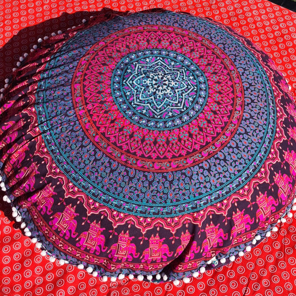 Magenta Floor Pillow Cover