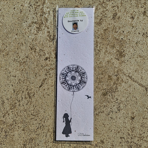 Mandala Balloon - Growing Paper Bookmark