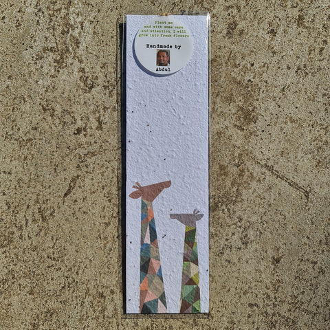 Giraffes - Growing Paper Bookmark