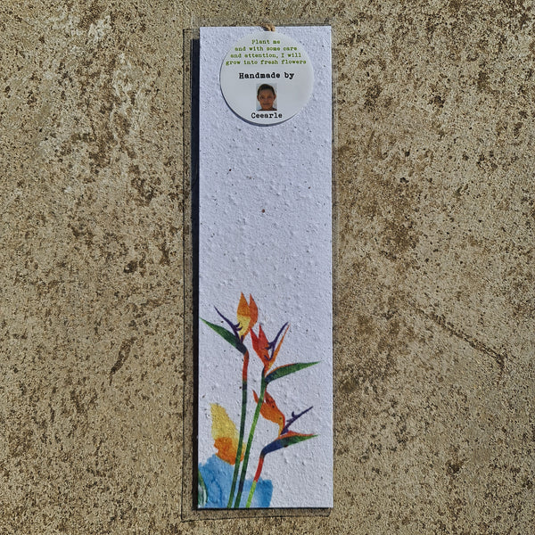 Strelitzia - Growing Paper Bookmark