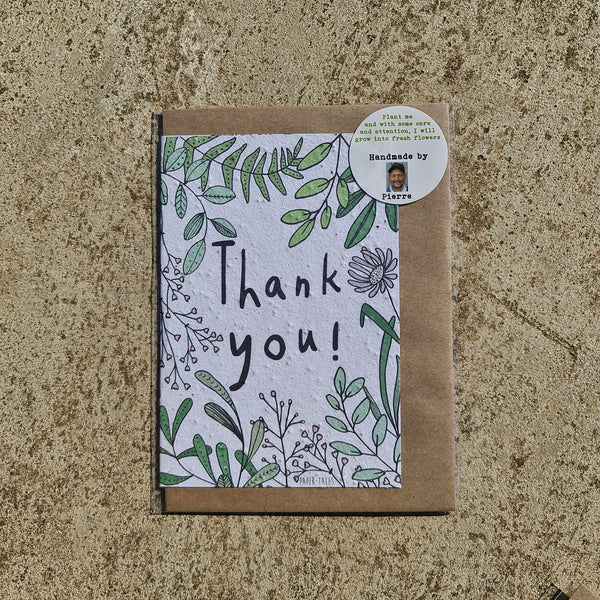 Thank You - Growing Paper Greeting Card