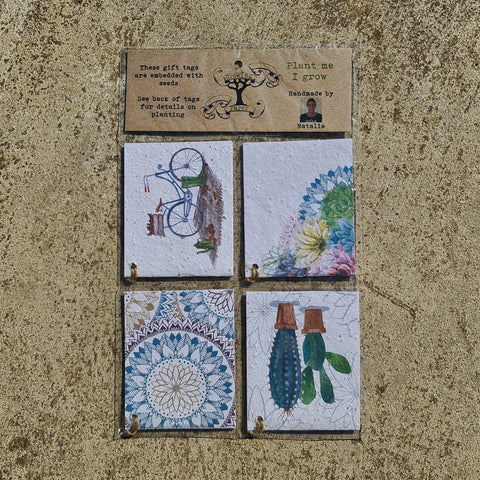 Cactus Flower Gift Tag Pack