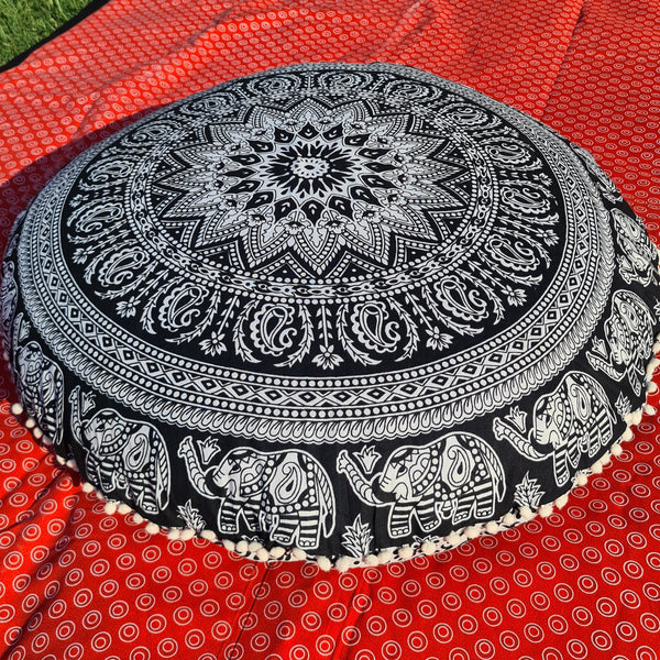 Black & White Floor Pillow Cover