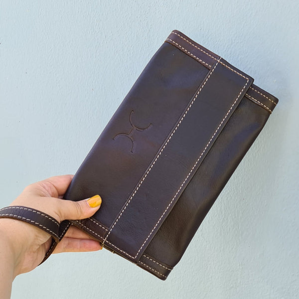 Travel Wallet - Leather - Tabacco