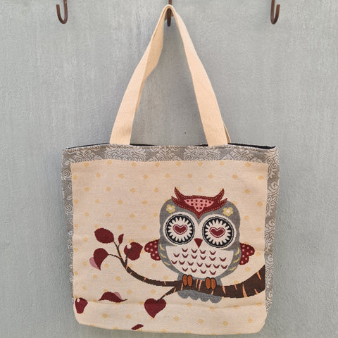 Embroidered Tote Bag - Owl