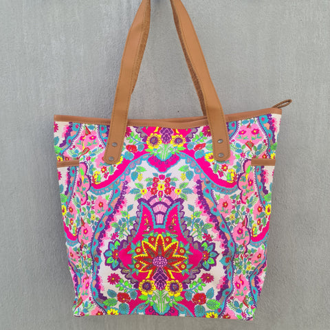 Thailand Canvas Tote Bag - Neon