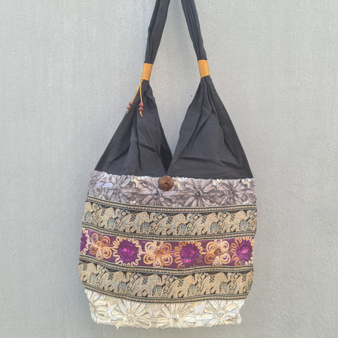 Thai Silk Shoulder Handbag  - Bag 5