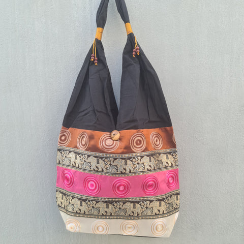 Thai Silk Shoulder Handbag  - Bag 6