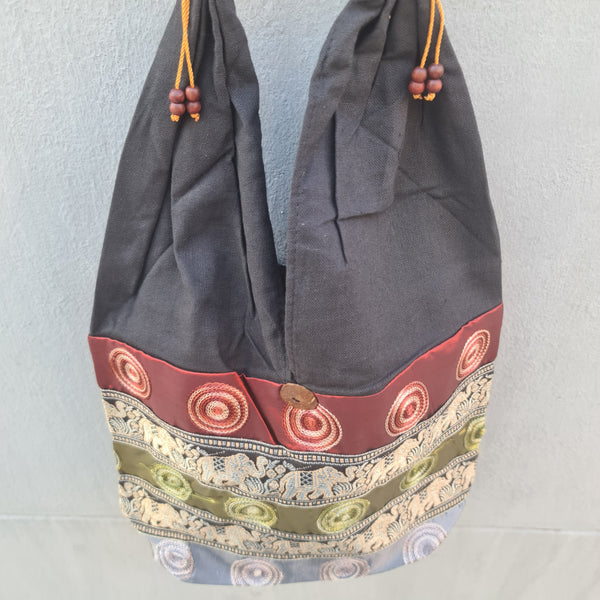 Thai Silk Shoulder Handbag  - Bag 8