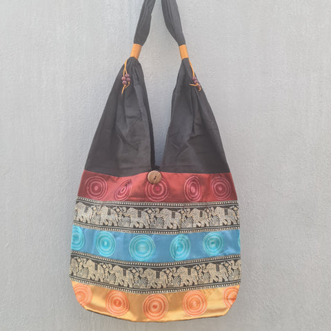 Thai Silk Shoulder Handbag  - Bag 9