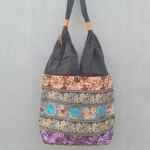 Thai Silk Shoulder Handbag  - Bag 3