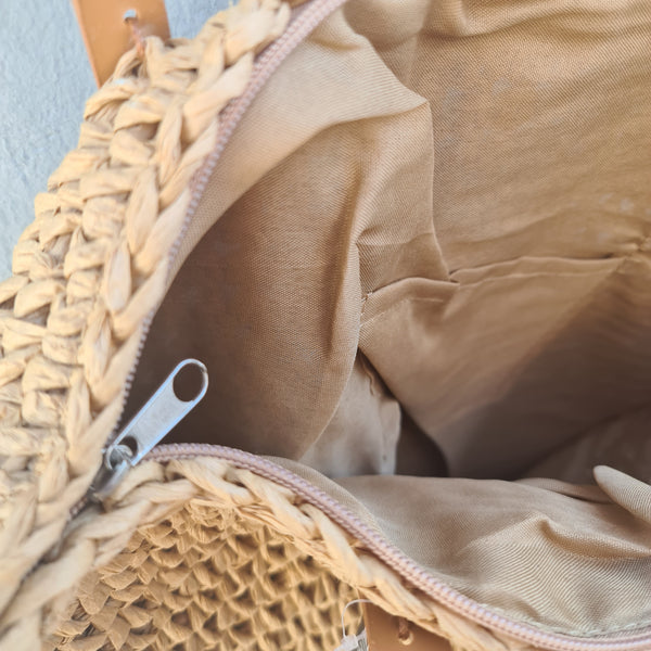 Crochet Basket Bag - Beige
