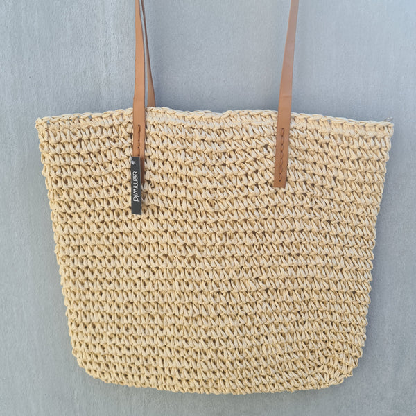 Crochet Basket Bag - Cream