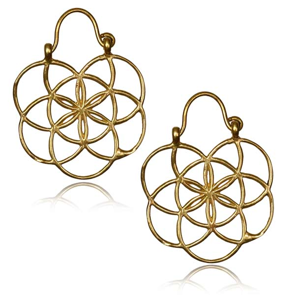 Flower of Life Brass Clasps