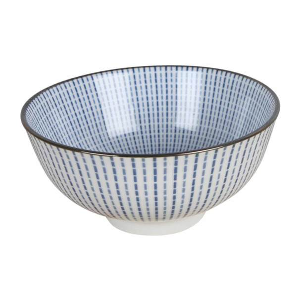 Blue Striped Ceramic Bowl