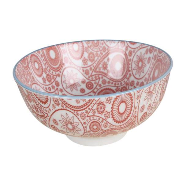 Red Mandala Ceramic Bowl