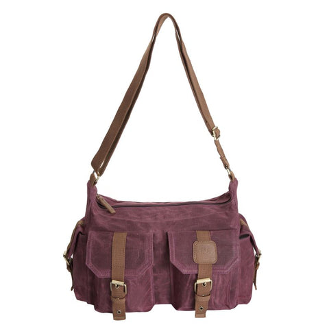Canvas Handbag - Burgundy