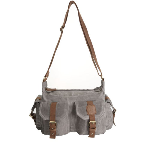 Canvas Handbag - Grey