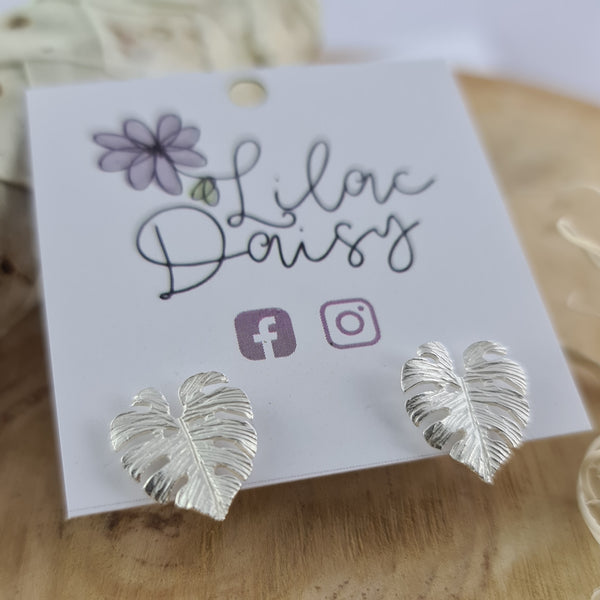 Botanical - Sterling Silver Stud Earrings