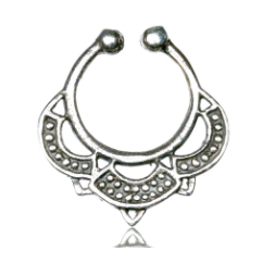 925 Gypsy Silver Septum Ring - Clip on