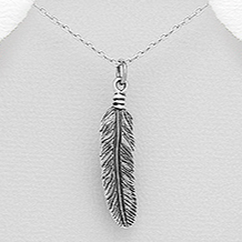 Feather Sterling Silver Pendant