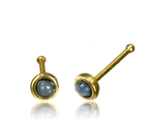 Brass Nose pin with moonstone