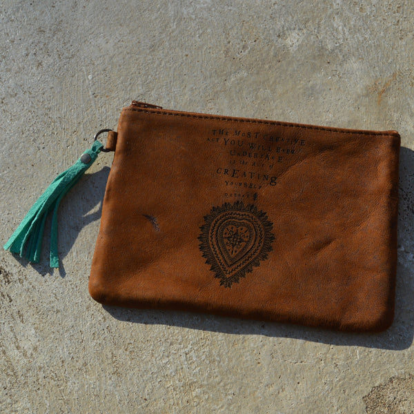 The Most Creative Act - Leather pouch