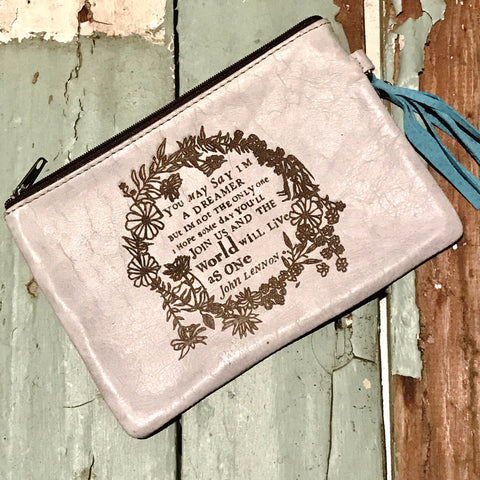 You may say I'm a dreamer - Leather Pouch