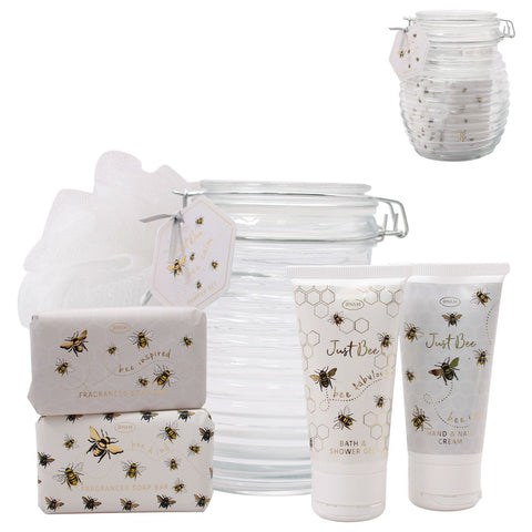 Just Bee Pamper Set - Glass Clip Jar