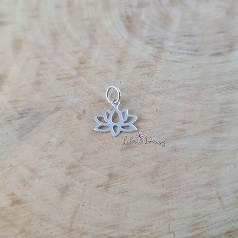 Lotus Sterling Silver Pendant - Style 2